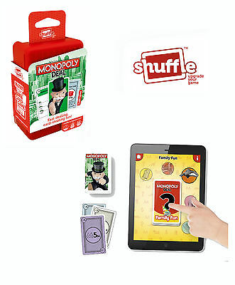 Shuffle - Monopoly Deal Card Game with APP Brand New - Best Christmas Gift idea
