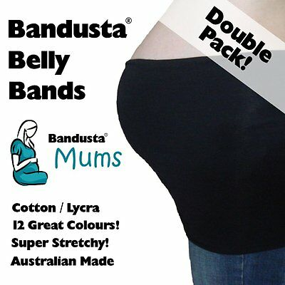 2 x NEW Bandusta® Belly Bands Tummy Tubes Band Tube DOUBLE PACK -  FREE POST!