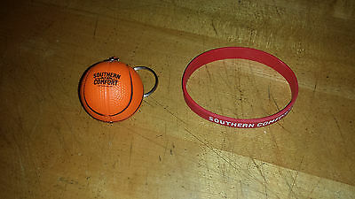 Southern Comfort Basketball Keychain and Whatever's Comfortable Rubber Wristband