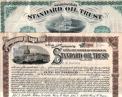 #1 LOT OF STANDARD OIL STOCKS @ $7.49 (REPRINTS)! ORIGS AVAIL! 2 w ROCKEFELL SIG