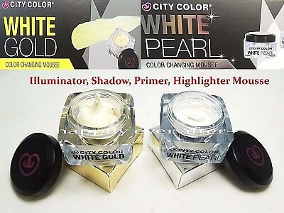 City Color Shadow & Highlight Mousse- Shimmer Finish for Eyes & Face *US SELLER*