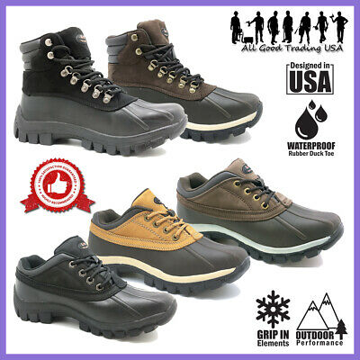 LM Winter Snow Boots Men's Insulated Work Boots Waterproof Rubber Sole 2017&3017
