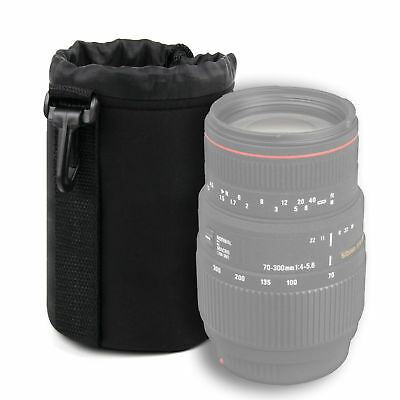 Lens Pouch Case in Size Medium for Sigma 70-300mm f/4-5.6 DG Macro in Black