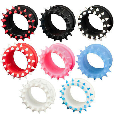 Flesh Tunnel Plug Silicone Flexible with Spikes 4-26mm Ear Piercing Z109