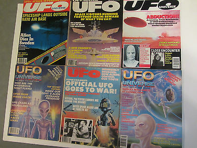 OFFICIAL UFO UNIVERSE MAGAZINE LOT ALIEN FLYING SAUCER ABDUCTION AREA 51 ROSWELL