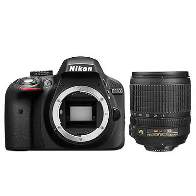 Nikon D3300 Digital SLR Camera 24.2mp DX-Format Black + 18-105mm AF-S DX VR Lens