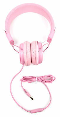 Premium Children's Headphones and Shell Case For Use W/ Apple iPad Mini in Pink