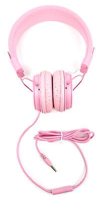 Premium Children's Headphones and Shell Case for Apple iPad Mini in Pink