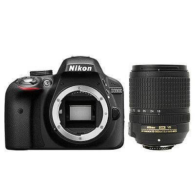 Nikon D3300 Digital SLR Camera 24.2mp Black + 18-140mm VR AF-S DX Zoom Lens