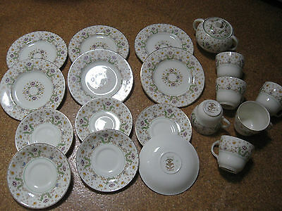 Staffordshire Barratts Creighton Part Tea Set 19 pieces