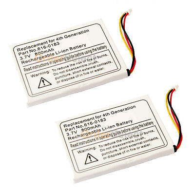 2 New Replacement Battery 800mAh for Apple iPod Photo 4th Gen 20GB 30 40GB 60GB