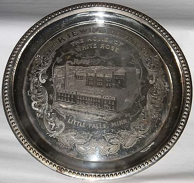 pre pro Kiewel's Brewing Co. White Rose Beer tray factory scene Little Falls MN