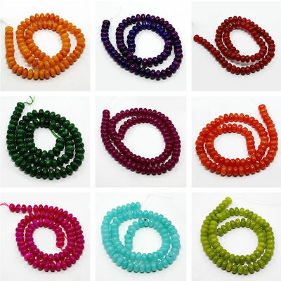 85pcs/strand Dyed White Jade Bead Strands Abacus Jewelry DIY Making Handcraft