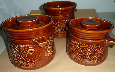 Retro Ellgreave Staffordshire pottery saxony casserole pot part set