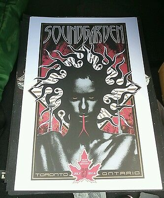 Soundgarden Exclusive Tour Poster Molson Toronto - Only 100 made!