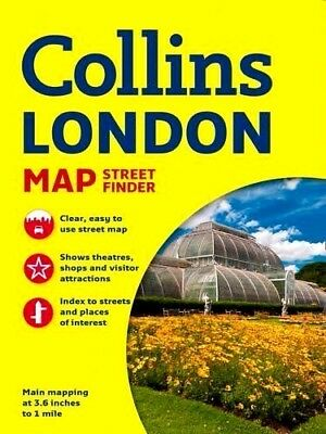 LONDON STREET FINDER MAP by Collins : WH1-R3E : PB507 : NEW MAP