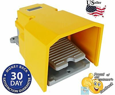Cast Reinforced Foot Switch Pedal 15A 250 VAC SPDT Heavy Duty Foot Protection