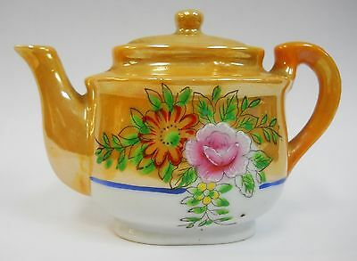 Vintage Lusterware Hand Painted Child's Toy Dish Tea Set Teapot  Occupied Japan