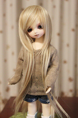 "BJD Doll Hair Wig 8-9"" 1/3 SD DZ DOD LUTS Multi Color Long Straight"