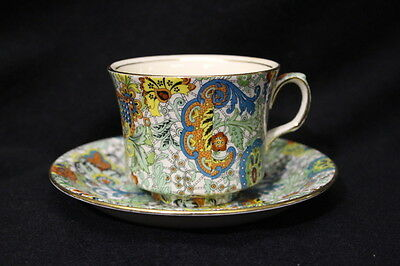 VERY RARE Royal Winton / Grimwades Chintz Exotic Groovy Cup And Saucer