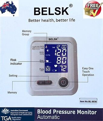 Automatic Upper Arm Blood Pressure Monitor 2018 Model With Talking Pulse
