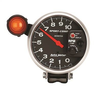 "AutoMeter 3904 Sport-Comp Electric 5"" Tachometer 0-10,000 w/ Monster Shift-Lite"