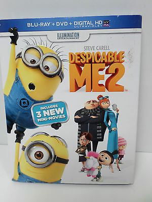 Despicable Me 2 (Blu-ray/DVD, 2013, 2-Disc Set) 3 New Mini-Movies - BRAND NEW
