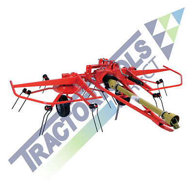 2 Star Hay Tedder for Compact Tractors Galfre GTS-280 2 Rotor 9' Cheap Shipping