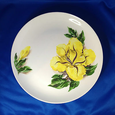 "Santa Anita Ware Flowers of Hawaii - Cup of Gold - 10 1/4"" Dinner Plate Set of 4"