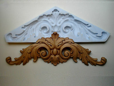 Large Ornate Double Scroll Mirror  Pediment / Moulding * Silicone Rubber Mould *