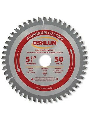 "Oshlun SBNF-054050  5-3/8"" 50 Tooth TCG Aluminum Cutting Saw Blade"