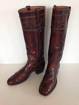 Lucchese 1883 Tall Brown Leather Vintage Women's Western Cowgirl Boots 6 A
