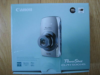 Canon PowerShot ELPH 500 HS 12.1 MP Digital Camera - Pink New Retail