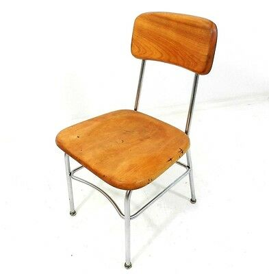 Vintage Heywood Wakefield Chair Metal Frame Kids Stool