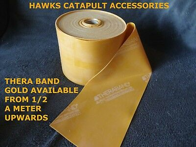Hawks Thera-band Gold from 0.5m up to 4.5 met catapult slingshot exercise yoga