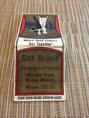 club rogers matchbook low number