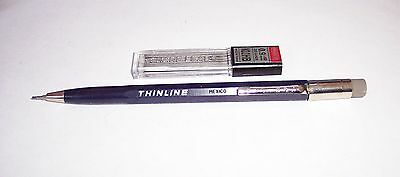 Vintage SCRIPTO Thinline 0.9mm Mechanical Pencil + 20 0.9mm Refills NOS!
