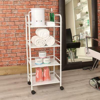 4 Shelf Mini Beauty Salon Trolley Cart Storage Dentist Wax Treatment Furnitur...