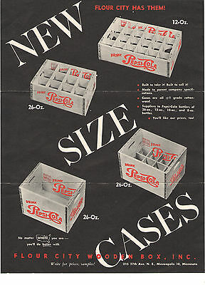 VINTAGE MID-1950s PEPSI COLA WOODEN CRATE/BOX ADVERTISING BROCHURE FOR DEALERS!