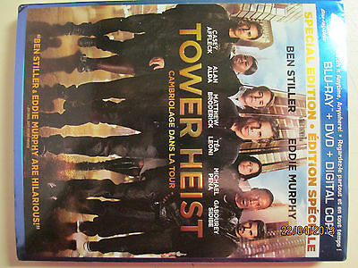 Tower Heist Blu-ray 2012 Comes With Embossed Slipcover No DVD Blu Ray Only