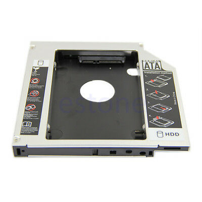 HOT! Universal Module 12.7mm PATA IDE to 2nd SATA HDD Hard Drive Disk Caddy