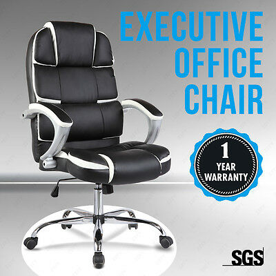 Bn Design High Back Executive Office Chair Leather Computer Desk Furniture
