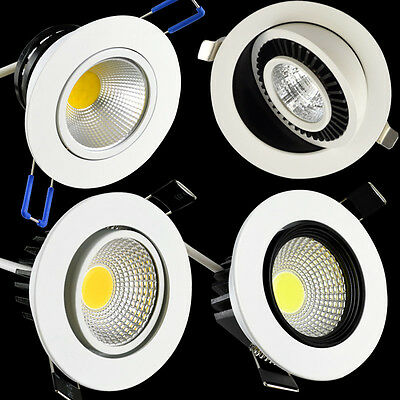 120/360 Degree White 3W 5W 7W COB LED Recessed Ceiling Downlight with driver