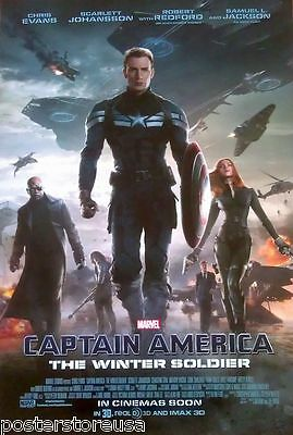 Captain America: The Winter Soldier Movie Poster Ds Original Avengers Marvel