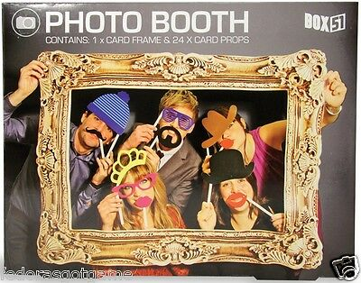 Photo Booth Props Hat Mustache Wedding Birthday Holiday Party Fun Includes Frame