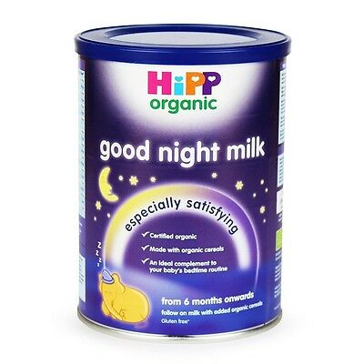 Hipp 6 Month Organic Good Night Milk Powder 350g 04/25/17 free shipping to USA