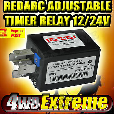 Redarc Tim06 Multi- Use Timer Relay Programmable 12-24V Thermo Fan, Headlights