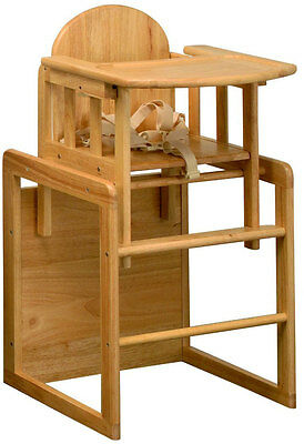 East Coast 3 in 1 Combination Wooden Highchair  Play Table + Safety Harness BNIB