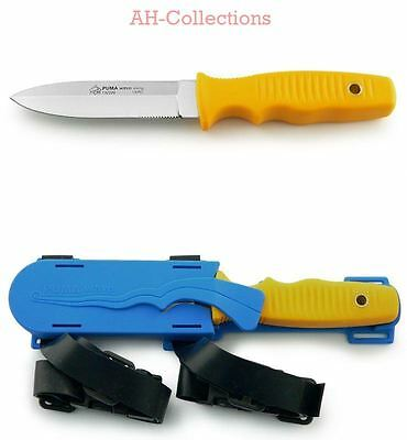 PUMA Messer Tauchermesser tec wave diving m. Kunststoff-Beinholster diving knife