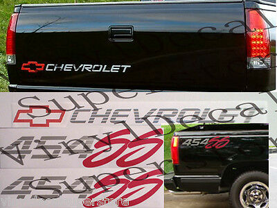 CHEVROLET Curly C Tailgate//Square 4x4 Bedside Decal KIT